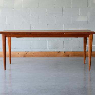 6ft Møller Mid Century Danish Modern Teak Dining Table with Leaves by MadsenModern