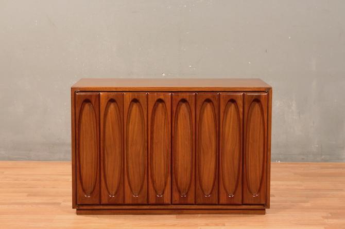 Mid Century Ovals Walnut 3-Drawer Cabinet