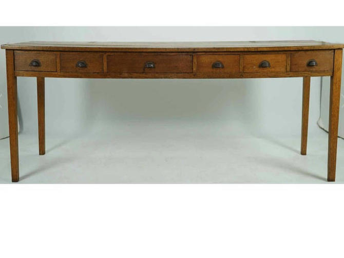 """Library Table, Oak, with 6 drawers, 95"""" - Free Springfield VA pick up (Shipping optional/extra) by RustandRefind"""