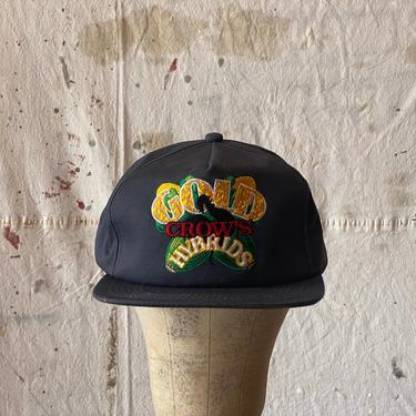 Vintage Gold Crows Hybrids K-Products Snap Back Hat by NorthGroveAntiques