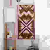 Purpleheart Mosaic Wallhanging