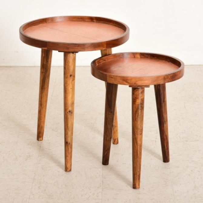 Copper-Top Nesting Table -Small