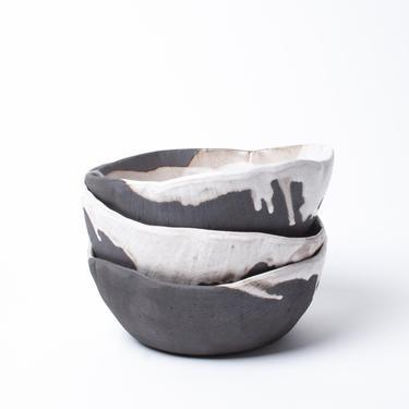 Rustic Pour Over Porridge Bowl, ceramic bowl, soup bowl, stoneware bowl, lead free, food safe by TagliaferroCeramics
