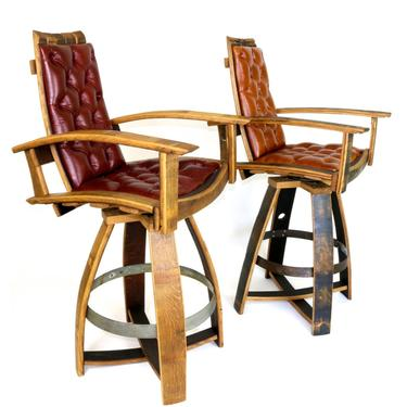 The Pub Chair - Wine and Whiskey Barrel Chair - by HungarianWorkshop