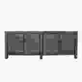 Chinese Distressed Light Olive Green Lacquer Long TV Console Cabinet cs5390S