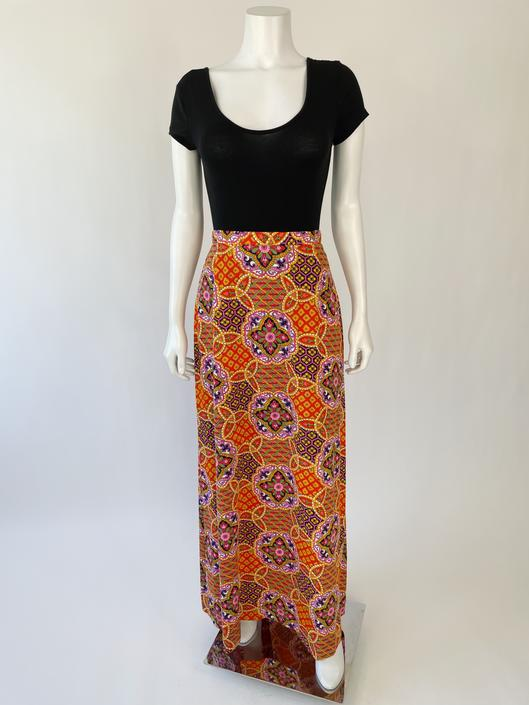 Psychedelic 60's Acid Bright Skirt