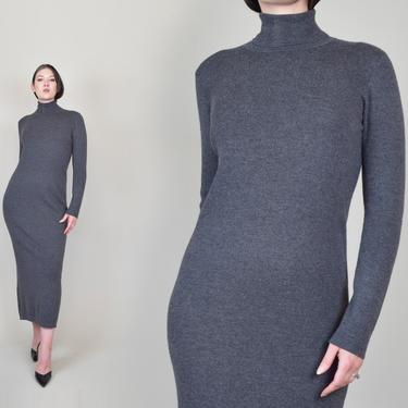 Ralph Lauren Wool Turtleneck Dress   Ralph Lauren Merino Wool Dress   Vintage Ralph Lauren Sweater Dress by WisdomVintage