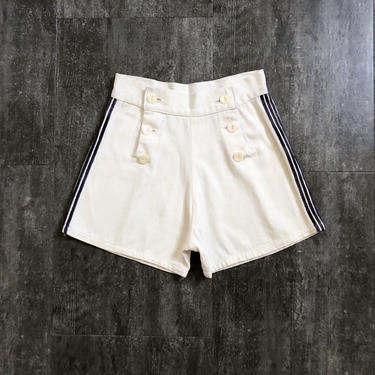 1930s 1940s shorts . vintage nautical shorts by BlueFennel