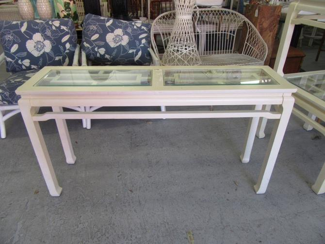 Asian Inspired Fretwork Console