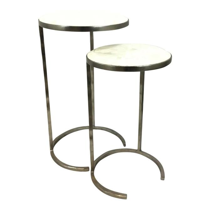 Regina Andrew Modern Faux Bone Nesting Tables Set of Two