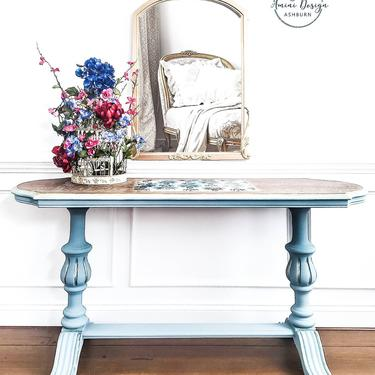 Vintage Console. Vintage Library Table. French Country Table. Foyer Table. Entryway Table. Console Table. by AminiDesignAshburn