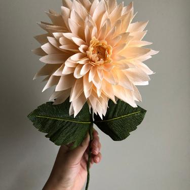 Crepe Paper Dahlia -- Paper Flowers for Weddings - Home Decor - Baby Showers - Wholesale - Featured in HGTV Magazine November 2019 by ReveryPaperFlora