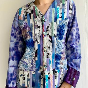 Nadya Reversible Tye Dye Patchwork Handmade Jacket by VintageRosemond