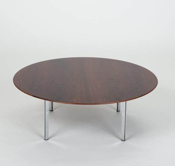 Knoll Rosewood Parallel Bar Coffee Table