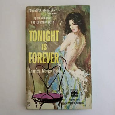 Vintage 1950s Pulp Fiction Paperback Book - Tonight is Forever - 50s Home Decor 50's Collectible Books - Popular Library Book by HeySailorNiceVintage