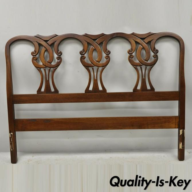 Vintage Blair House Chippendale Style Mahogany Full Size Bed Headboard