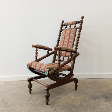 Antique Danish Victorian-Style Rocking Chair by FarOutFindsNY