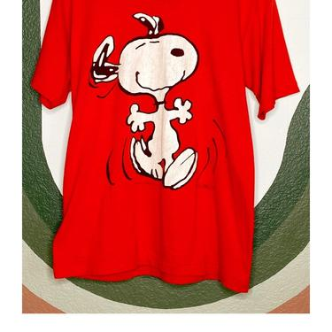 Red Snoopy Graphic Tee