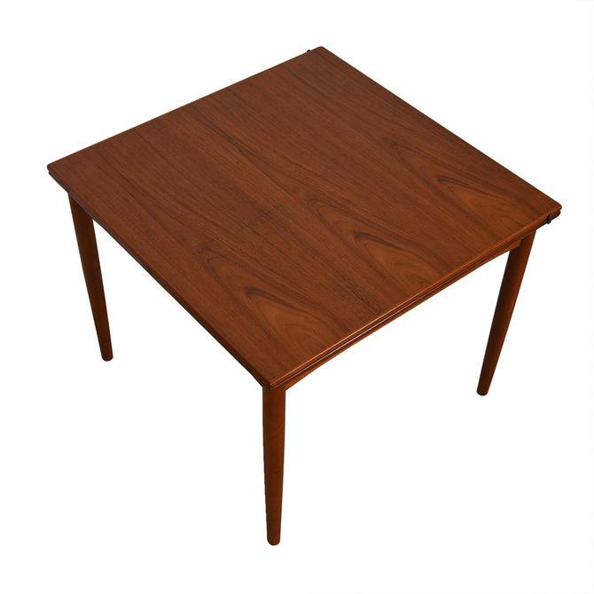 Square Danish Teak Small Expanding Dining Table