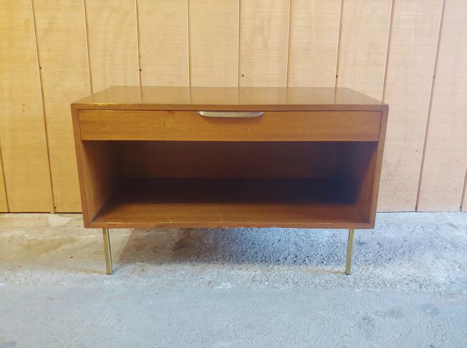Harvey Probber Low Open Cabinet With Drawer 1950's by ModandOzzie