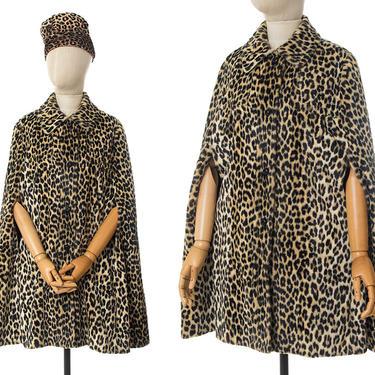 Vintage 1960s Cape   60s Leopard Print Faux Fur Poncho Coat (xs/small/medium) by BirthdayLifeVintage