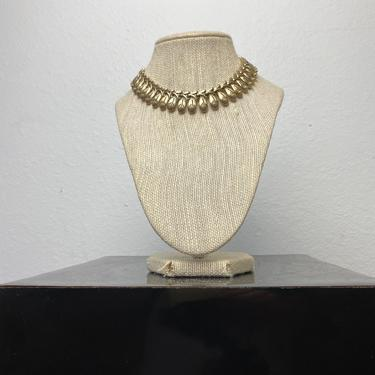 vintage gold tone costume choker necklace by miragevintageseattle