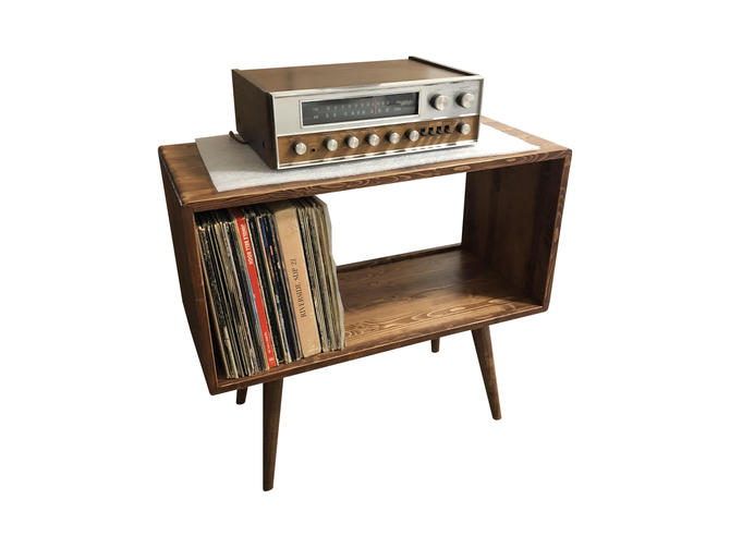 Mid Century Modern Record Player Stand by OrWaDesigns