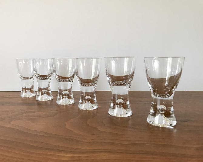 Vintage Set of 6 Iittala of Finland Tapio Cordial Glasses by Tapio Wirkkala by TheThriftyScout