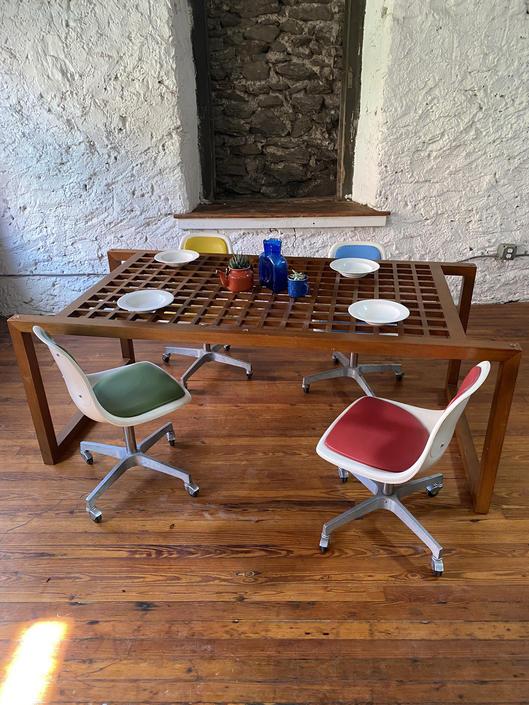 Mid century modern dining chairs Danish modern dining chair mid century shell chair by VintaDelphia