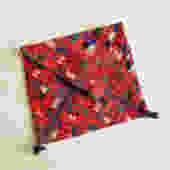 Vintage Middle Eastern Dowry Bag, Embroidered Envelope Purse by LittleDogVintage