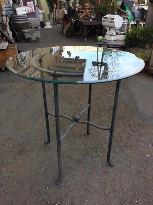 Glass Top Bistro Height Patio Table