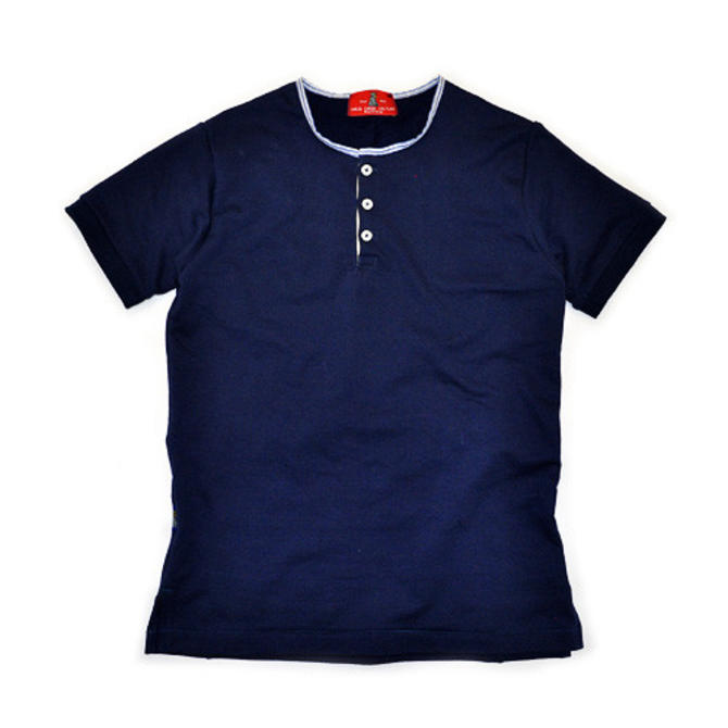 Wrigley Short Sleeve Henley (Navy)