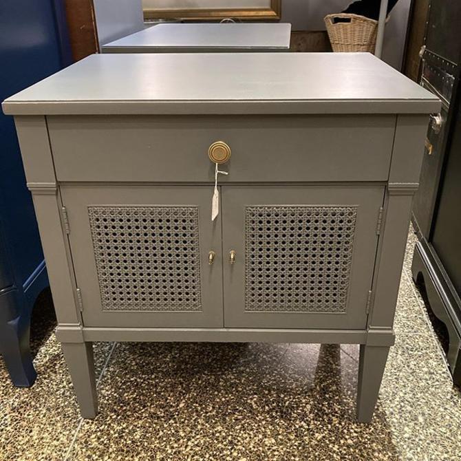 """Gray, painted Herndon mid century nightstand (s) 24"""" x18"""" x 25.5"""""""