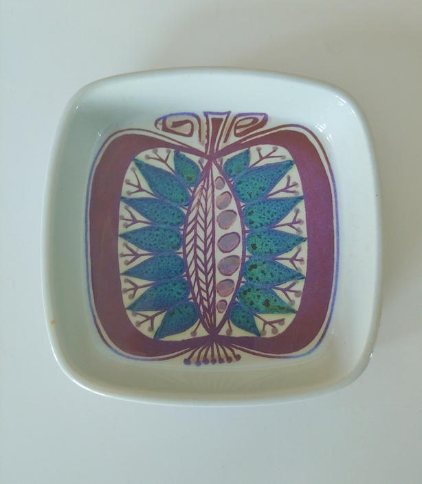 Danish Modern Royal Copenhagen Tanera Small Square Dish Marianne Johnson 140/2882 by ModandOzzie