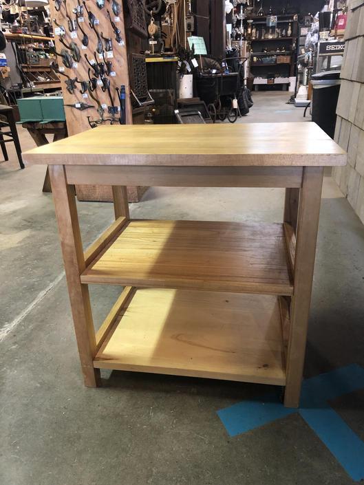 """Lt Oak 3 Shelf Side Table 22"""" x 14.25"""" x 22""""H"""
