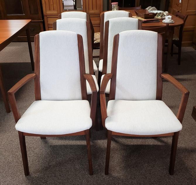 Item #DMC5 Set of Six Mid Century Dining Chairs c.1960