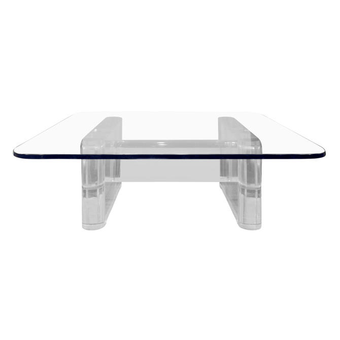 """Karl Springer """"Trestle Style Coffee Table"""" 1980s (signed) - SOLD"""