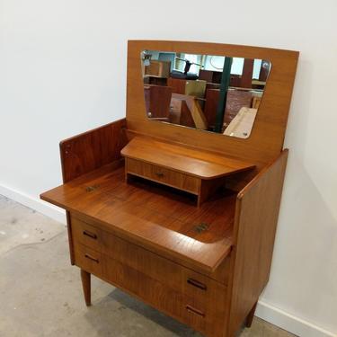 Vintage Danish Modern Teak Vanity Dresser by FarOutFindsNY