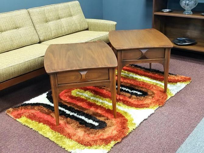 Mid-Century Modern pair of side tables from the Perspecta collection by Kent Koffey