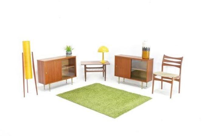 Mid Century Display Cabinets (pair) by BS Goodman Ltd of London by SputnikFurnitureLLC