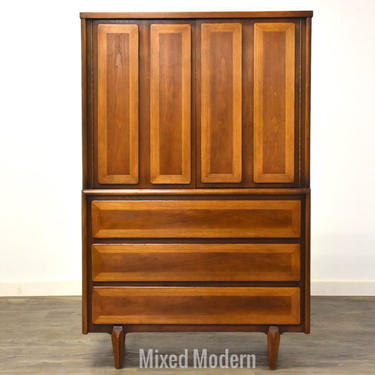 American of Martinsville Walnut Armoire Dresser by mixedmodern1