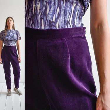 Vintage Purple Velvet Trousers by milkandice