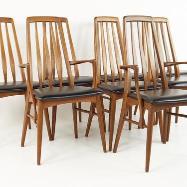 Niels Koefoed Mid Century Teak Eva Dining Chairs - Set of 8 - mcm by ModernHill