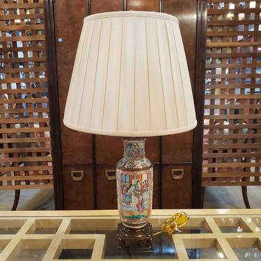 Chinese Famille Rose Vase Lamps