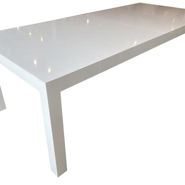 White Parsons Table