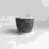 "4.75"" Pot/Planter-Black White Square with Dot"