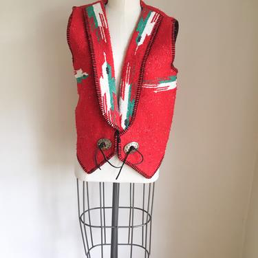 Vintage Mexican Woven Vest / M by MsTips