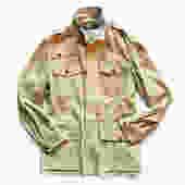 POLO RALPH LAUREN tan suede safari field jacket