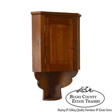Custom Crafted Solid Walnut Hanging Corner Cupboard by Martin Weaver by BucksEstateTraders