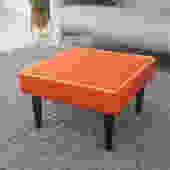 White/Orange Ottoman